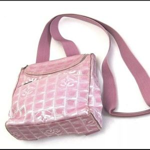 pink chanel travel line convertible backpack purse
